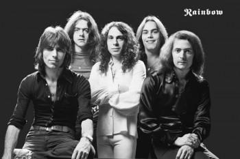 386-2. Постер: Rainbow - рок-группа, образованная в 1975 году гитаристом Ritchie Blackmore в оригинальном составе