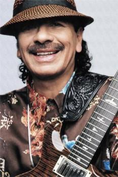 393. Постер: Carlos Santana - великий американский гитарист мексиканского происхождения