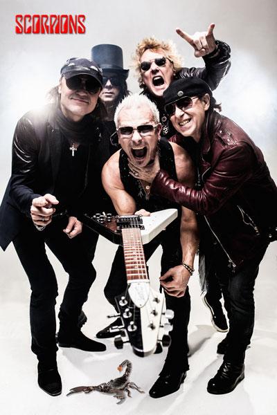 398-2. Музыкальный постер: Легендарная немецкая группа Scorpions