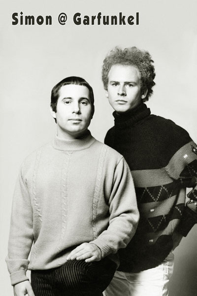 402. Постер: легендарный дуэт - Paul Simon and Art Garfunkel