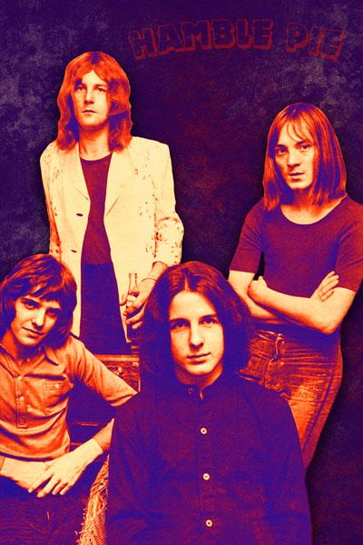 403. Постер: Humble Pie - культовая британская группа, образованная 1969 году