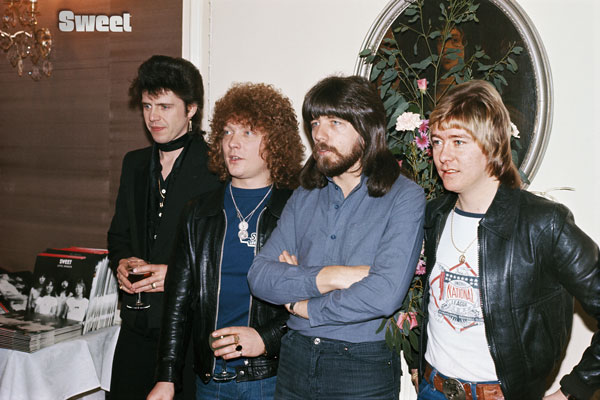 404-2. Постер: Steve Priest, Brian Connolly, Mick Tucker, и Andy Scott - группа Sweet в 1978
