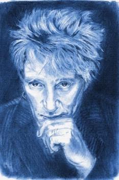 423. Постер: Rod Stewart, рисунок карандашем