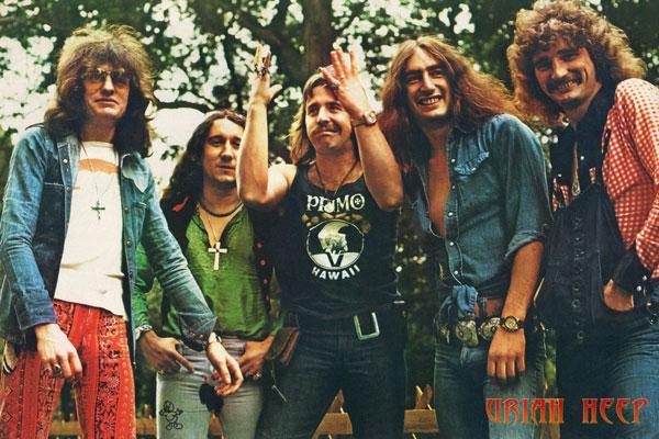 442. Постер: Uriah Heep в классическом составе