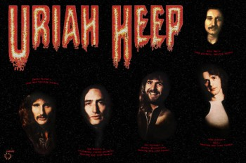 443-2. Постер: Uriah Heep на черном, 1975