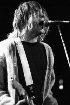 454. Постер: Kurt Cobain - вокалист, гитарист и лидер северо-американской рок-группы Nirvana