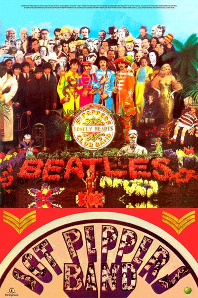 "060. Постер: The Beatles, обложка к альбому всех времен: ""Sgt. Pepper's Lonely Hearts Club Band"""