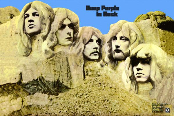 132-3. Постер: Обложка культового альбома Deep Purple in rock