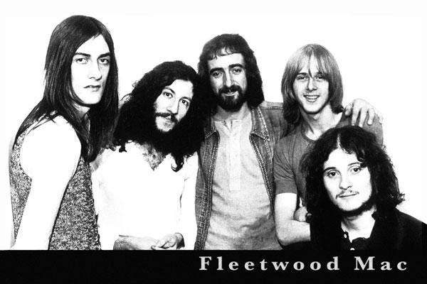 162. Постер: Fleetwood Mac - один из ярких представитель британского блюза, первоначальный состав
