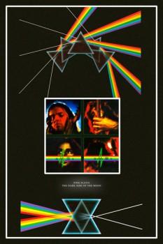 "342-3. Постер: Pink Floyd, вариации на тему ""Dark side of the moon"""