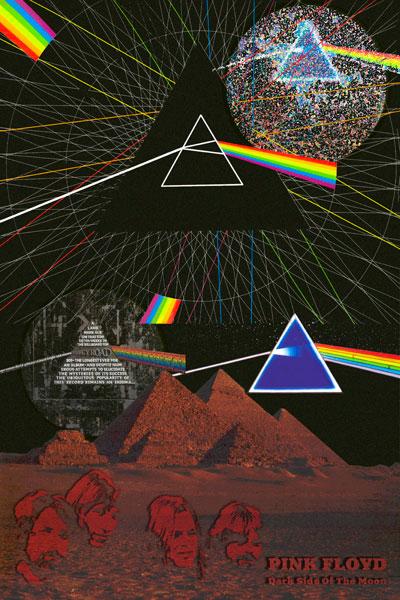 344-2. Постер: Pink Floyd, коллаж к эпохальному альбому