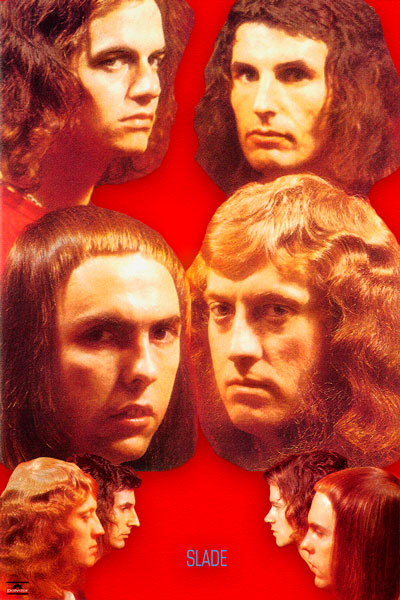 "407-2. Постер: Slade, с альбома ""Old, New, Borrowed and Blue"""