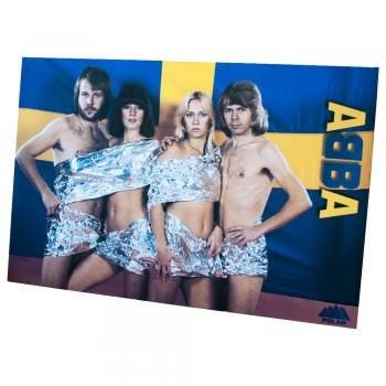 03. постер, ABBA на фоне национального флага