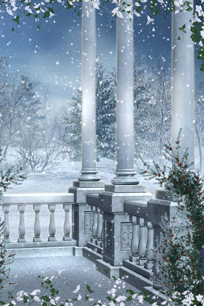 009. Пейзаж: Зимняя фантазия, колонны