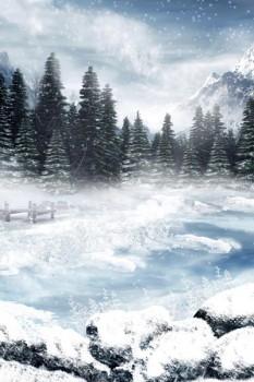 010. Пейзаж: Зимняя фантазия (Замерзшее озеро)