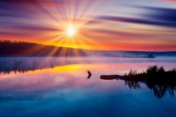 022. Пейзаж: Восход солнца