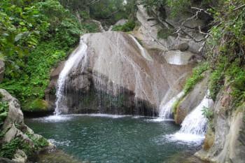 024. Пейзаж: У водопада