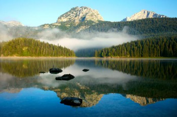 029. Пейзаж: Утро на озере