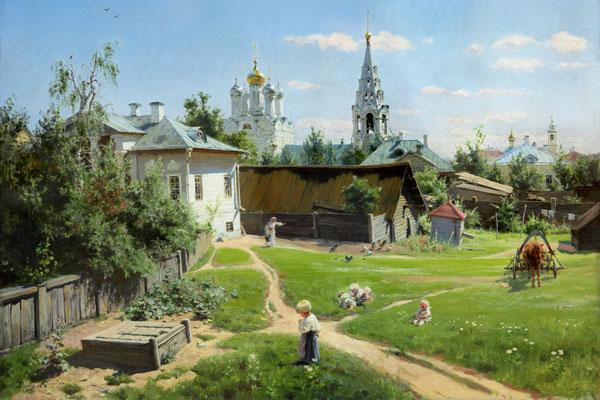 032. Пейзаж: Московский дворик