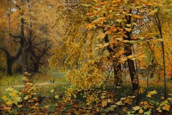 037. Пейзаж: Золотая осень. И. Остроухов