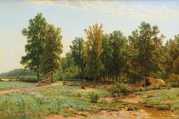 049. Пейзаж: На окраине дубового леса