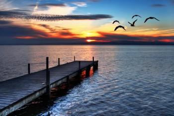 056. Пейзаж: На закате дня