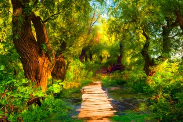 072. Пейзаж: Старый мостик