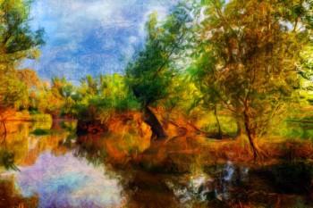 075. Пейзаж: На реке