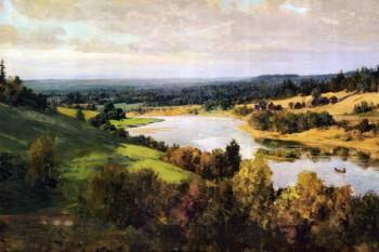 095. Пейзаж: Река, вид с горы