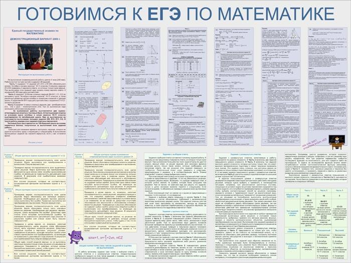 09. Школьный плакат: Готовимся к ЕГЭ по математике