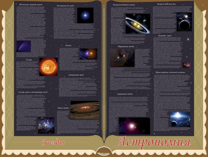 45. Школьный плакат: Астрономия. Звезды
