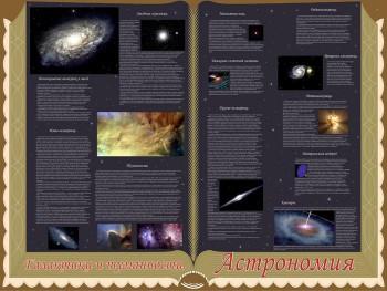 46. Школьный плакат: Астрономия. Галактики и туманности