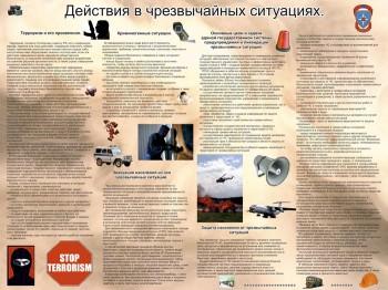 040. Плакат по ОБЖ: Действия в чрезвычайных ситуациях (Часть 3)