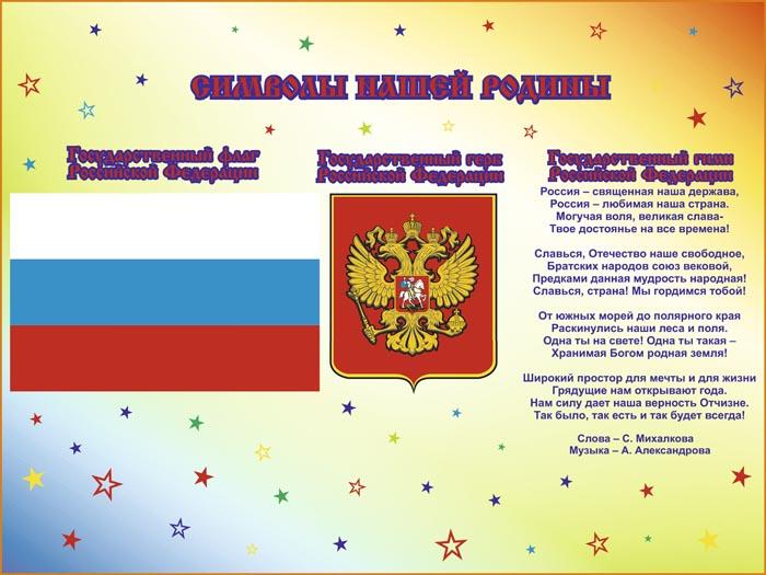 55. Школьный плакат: Символы нашей Родины
