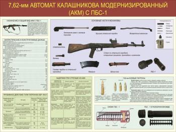 02. 7,62-мм автомат Калашникова модернизированный (АКМ) с ПБС-1