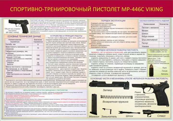 014. Спортивно-тренировочный пистолет МР-446с Viking