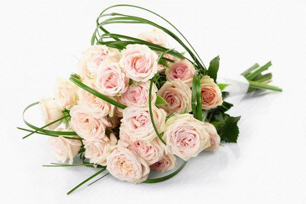 113. Поздравление: Букет нежно розовых чайных роз
