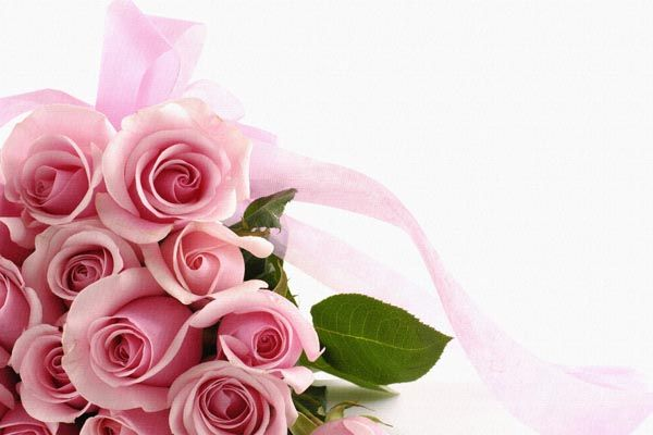 116. Поздравление: Розы с ленточкой