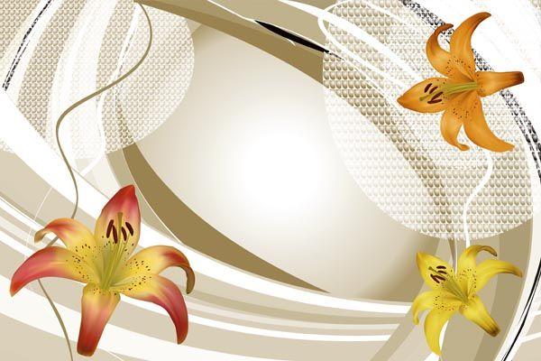 119. Поздравление: Лилии на рамке