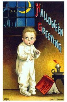 001. Ретро плакат западных стран: Halloween Greeting