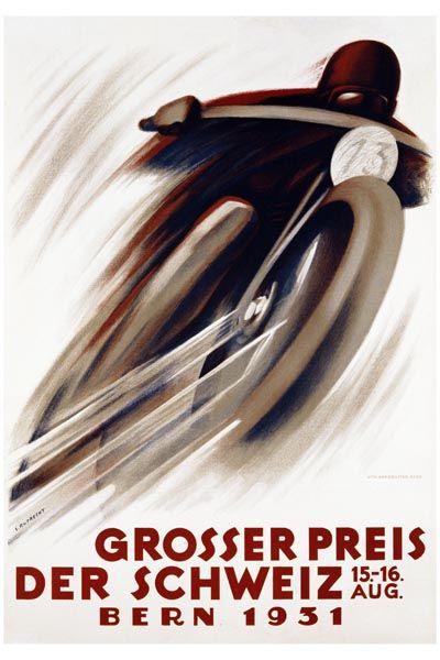 005. Ретро плакат западных стран: Der Schweiz. Poster by E. Ruprecht
