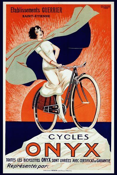 007. Ретро плакат западных стран: Onyx Cycles by Fritayre