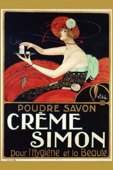 008. Ретро плакат западных стран: Creme Simon Poster by Vila