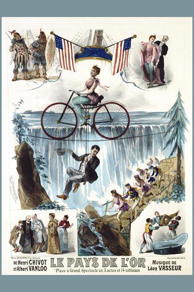 009. Ретро плакат западных стран: Le Pays de L'or Poster by Lemerisquier