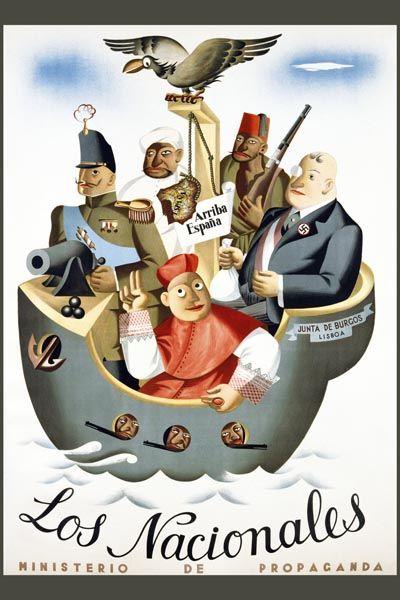 010. Ретро плакат западных стран: Los Nacionales. Poster by Juan Antonio Morales