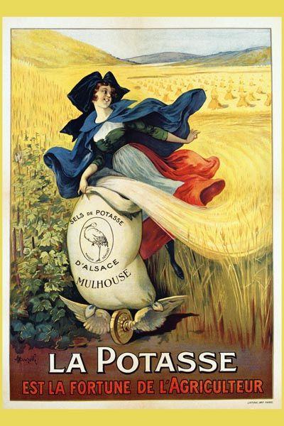 011. Ретро плакат западных стран: La Potasse. Poster by Marcellin Auzolle
