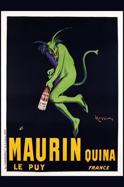 014. Ретро плакат западных стран: Maurin Quina. Poster by Leonetto Cappiello