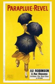 015. Ретро плакат западных стран: Parapluie-Revel. Poster by Leonetto Cappiello