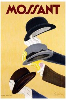 016. Ретро плакат западных стран: Mossant. Poster by Leonetto Cappiello