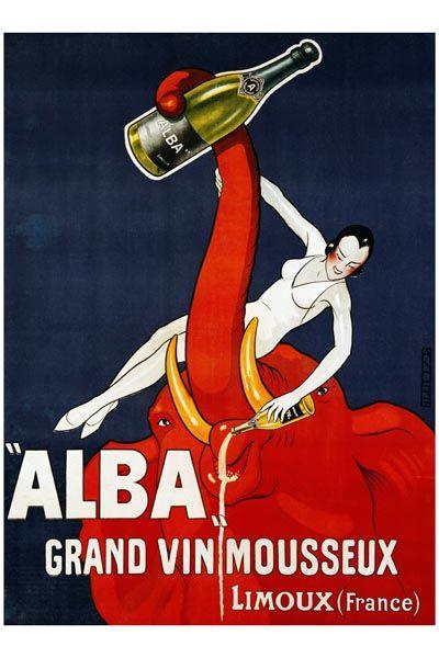 019. Ретро плакат западных стран: Alba Grand Vin Mousseux. Poster by Andre